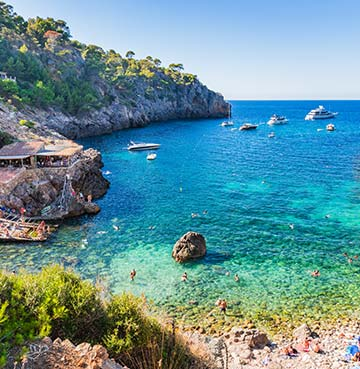 Cove beach of Cala Deia in Mallorca
