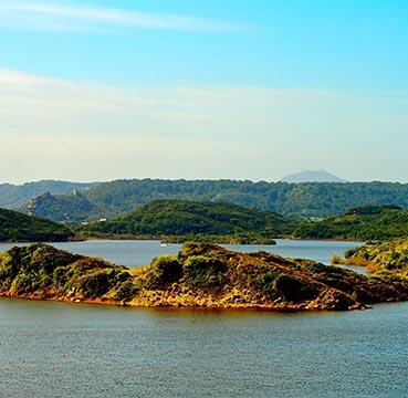 Ariel view of S'Albufera des Grau Natural Park