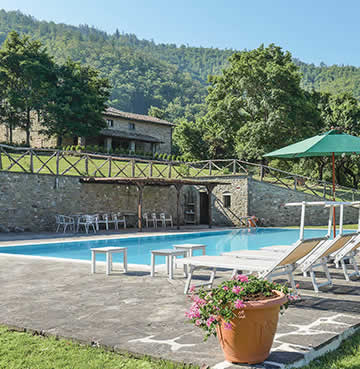 The luxurious Villa Cretole nestled in the beautiful Tuscan countryside.