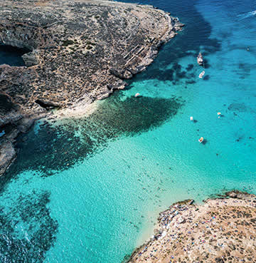World-famous Blue Lagoon, Comino