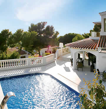Whitewashed, luxury Villa Maitreya and its commanding views across the Menorca countryside