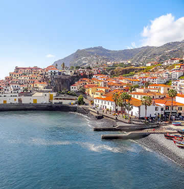 The harbour of Funchal, Madeira