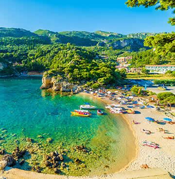 Beautiful beach in Corfu, Greece
