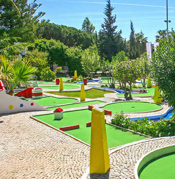 Child friendly facilities at a holiday resort in the Algarve