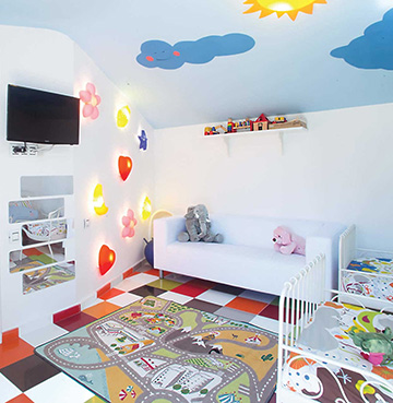 Child's bedroom in Villa Buddha, Lanzarote