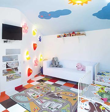 Child's bedroom in Villa Buddha, Lanzarote