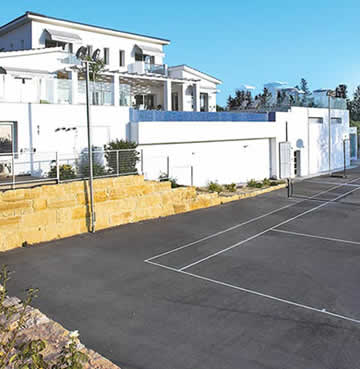 Private tennis court in Villa Monte Mare, Cyprus