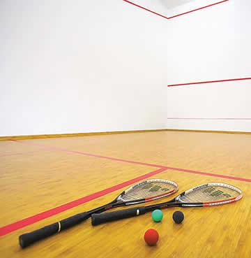 Private squash court at Villa Monte Mare in Cyprus
