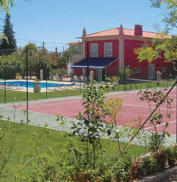 Tennis court in Villa Quinta de Casal Maior, Costa Verde, Portugal