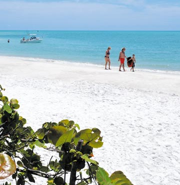 A white sand beach on the Gulf Coast, Florida