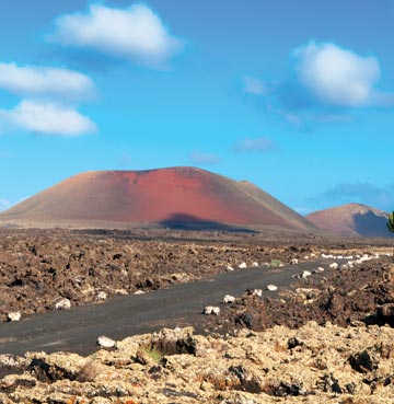 Volcanic and desert like landscape of Timanfaya National Park