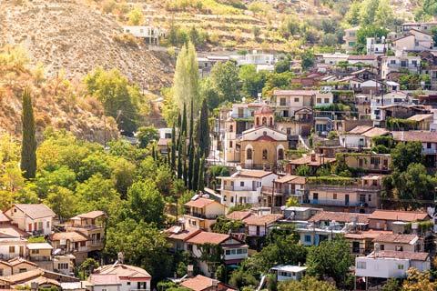 Moutnain town of Paliachori, Cyprus