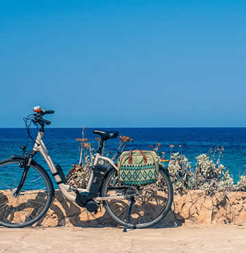A bike by the coast in Menorca