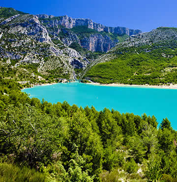 A View of Lac de Saint Croix in Provence