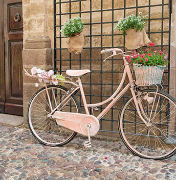 Bicycles in the street in Alghero, Sardinia