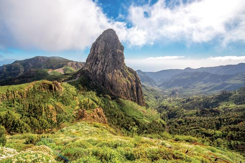 Mountain Peak on the Island of La Gomera