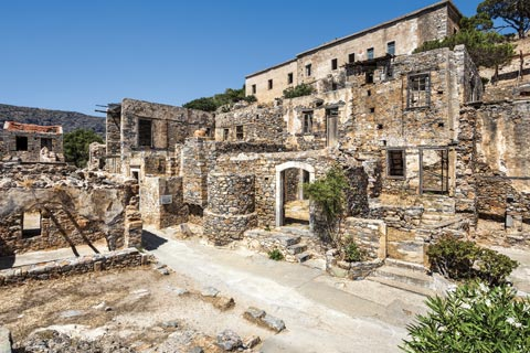 Ruins in Spinalonga, Crete