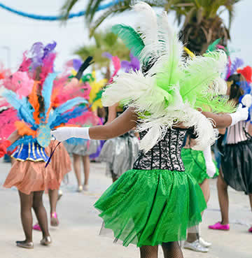 Colorful Caribbean street festival