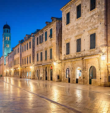 Streets of Dubrovnik Old Town, venue for the Summer Festival