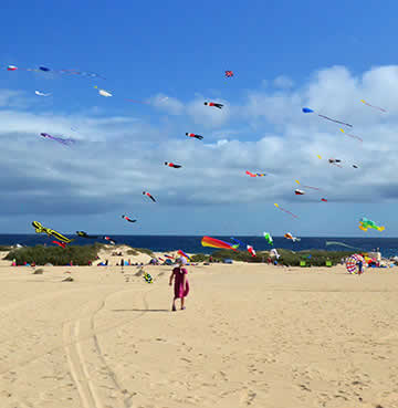 Colourful kites of Fuerteventura's Kite Flying Festival