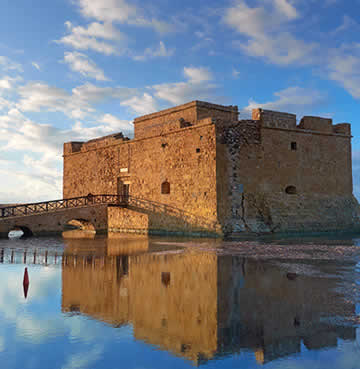 Paphos castle, venue of the Pafos Aphrodite Festival