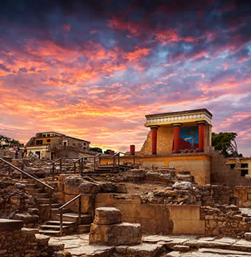 The Palace of Knossos in Crete