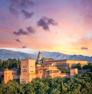 Alhambra Palace in Granada, Mainland Spain