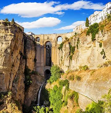 The El Tajo Gorge and Puente Nuevo Bridge