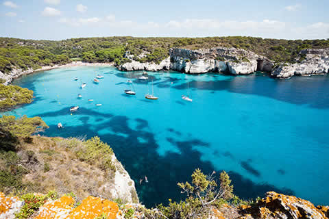 Natural beauty of an unspoilt cove in Menorca