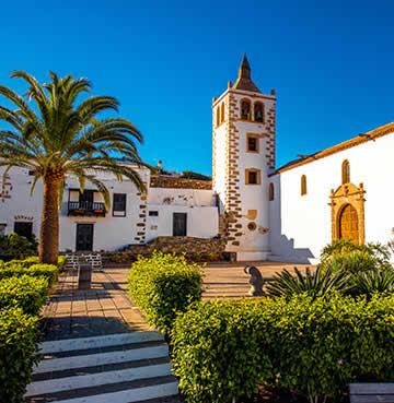 The town square of Betancuria, Fuerteventura