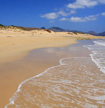 Golden beach of Porto Santo