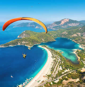 Paragliding over Oludeniz Lagoon