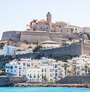 Iconic Dalt Vila in Ibiza's Old Town