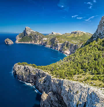 Lush, captivating coastline of Cap de Formentor
