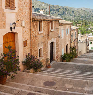 Pretty streets of traditional Pollensa