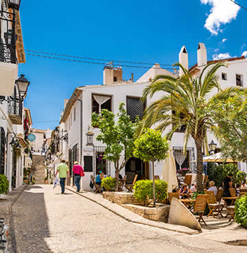 Whitewashed, traditional village of Altea