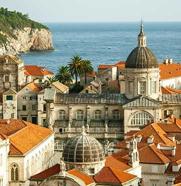 Red-roofed architecture of Dubrovnik and the Old Town