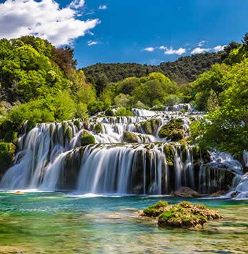 Iconic waterfalls at Krka National Park