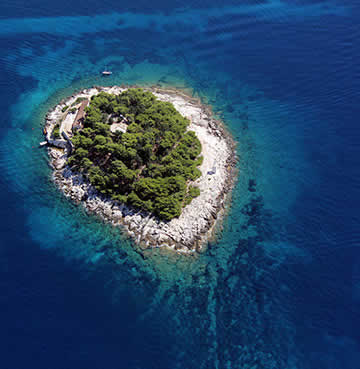 One of the small islands of Pakleni