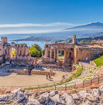 Ancient Greek ruins at Taormina