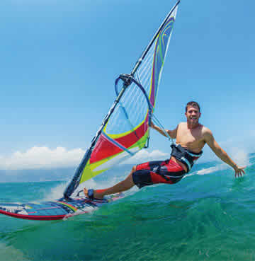 Windsurfing in Spain