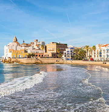 LGBT friendly beach and seaside town of Sitges in Spain