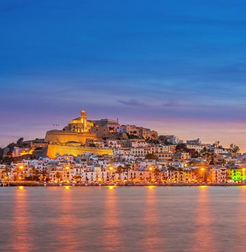 Dalt Vila at sunset