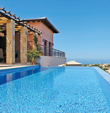 Private pool of Aphrodite Hills Elite 171 Villa on the beautiful island of Cyprus