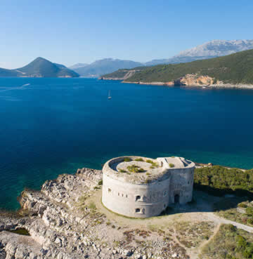 Unspoilt landscapes and ancient ruins in Lustica Peninsula, Montenegro