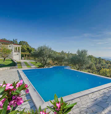Villa Rose Garden and private pool looking over Herceg Novi, Montenegro