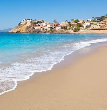 View of a sandy beach in Costa Calida