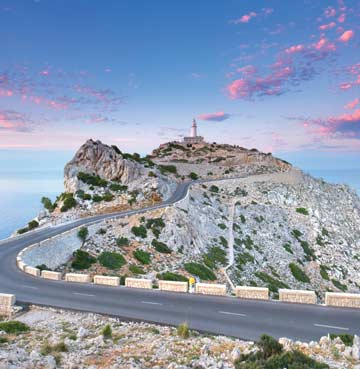 Road leading to Cap de Formentor, Mallorca