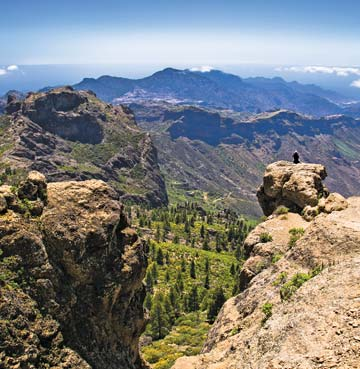 Roque Nublo peak in Gran Canaria