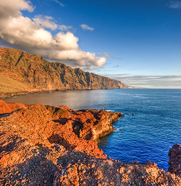 Los Gigantes beach in Tenerife with mountain views